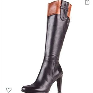 Sesto Meucci leather knee high black boots